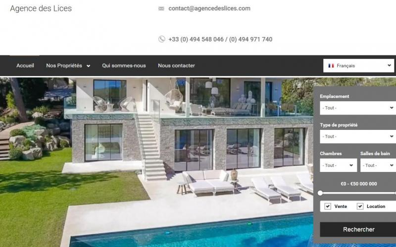 creation site agence immobilière